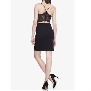Express Black Dress with Lace Back Zipper